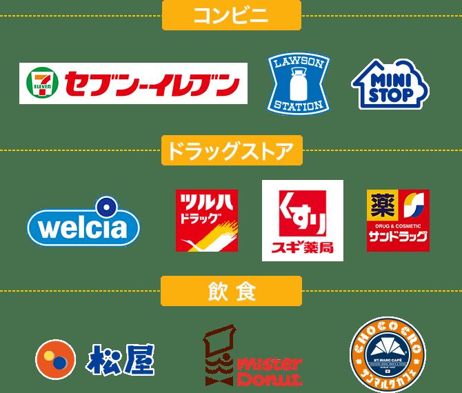 コンビニ/ドラッグストア/飲食店ロゴ画像