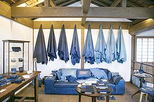藍染の革製品